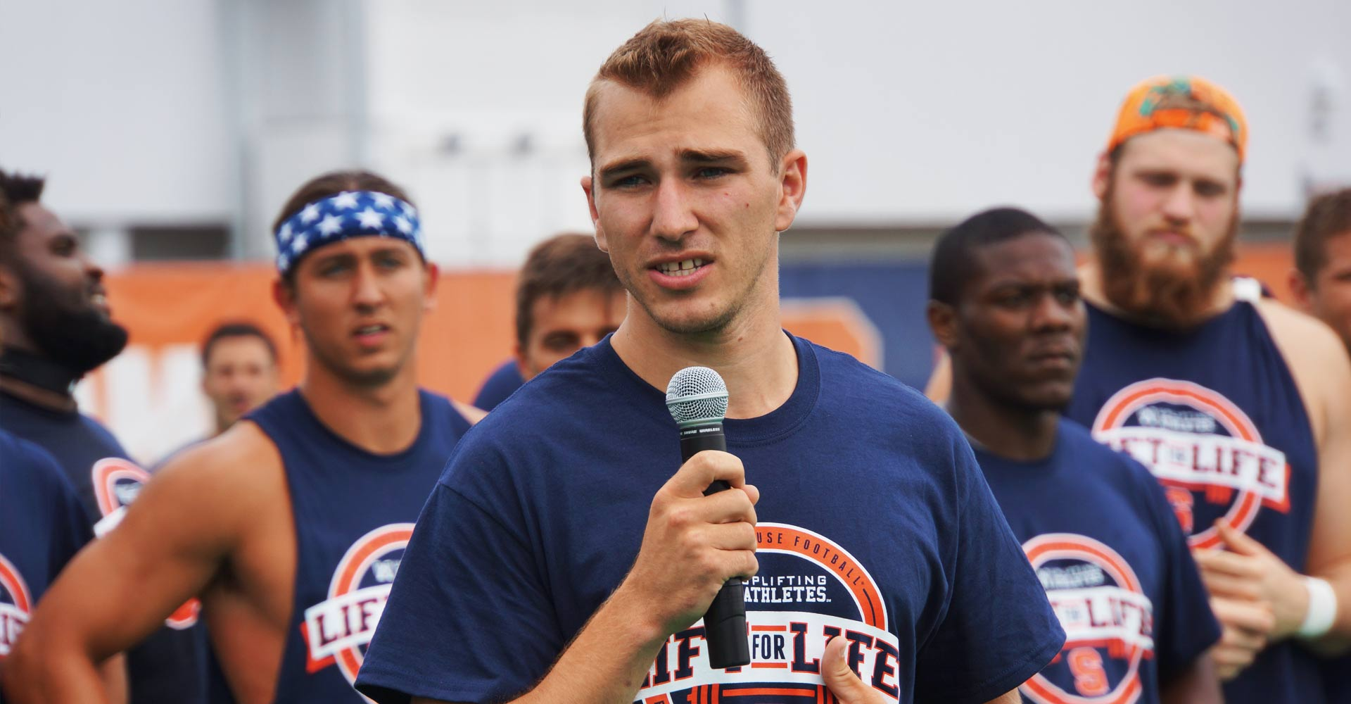 Rob Long addresses Syracuse football team at annual Lift for Life