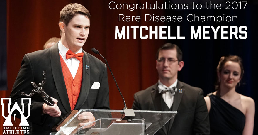 Congratulations to the 2017 Rare Disease Champion: Mitchell Meyers